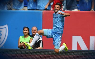 Con esta chilena David Villa ha puesto a calentar la pretemporada de la MLS