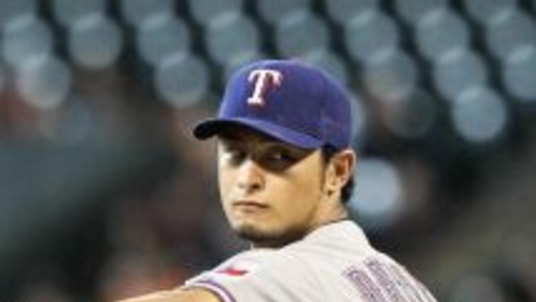 Darvish no permitió imparables hasta la octava entrada.