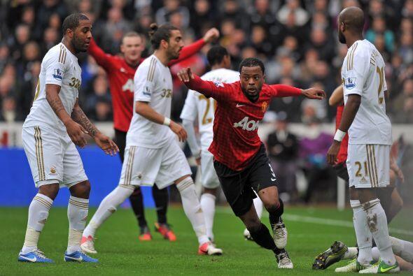El United se ponía en ventaja gracias a un remate de cabeza de Patrice E...