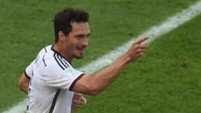 Hummels le dio el triunfo a Alemania con una anotación en los primeros m...