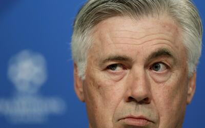 Bayern's head coach Carlo Ancelotti attends a news conference prior to t...
