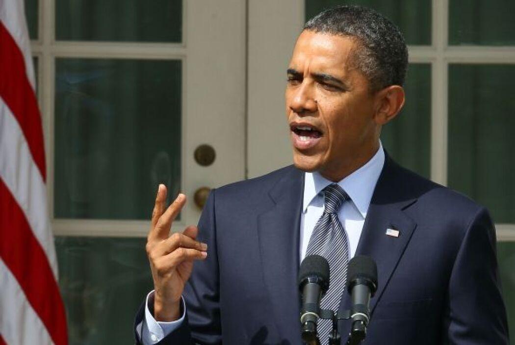 Mayo 9- El presidente estadounidense Barack Obama se declara a favor del...