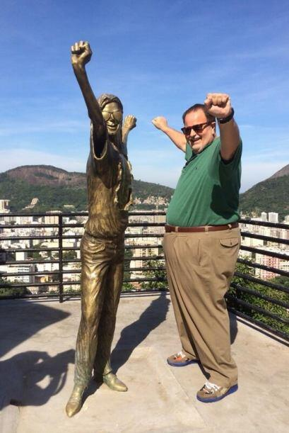 El conductor visitó la favela Doña Marta, famosa por tener...