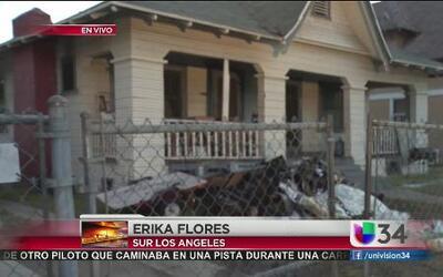 Hombre grave tras incendiarse su casa