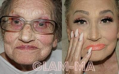 La abuelita de la maquillista Tea Flego se ha convertido en la más queri...