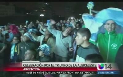 En día feriado, los argentinos celebraron la victoria de su selección.