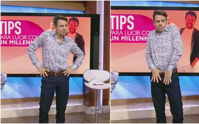 ¡Cambio de look! Retamos a Eugenio Derbez a vestirse como un millennials