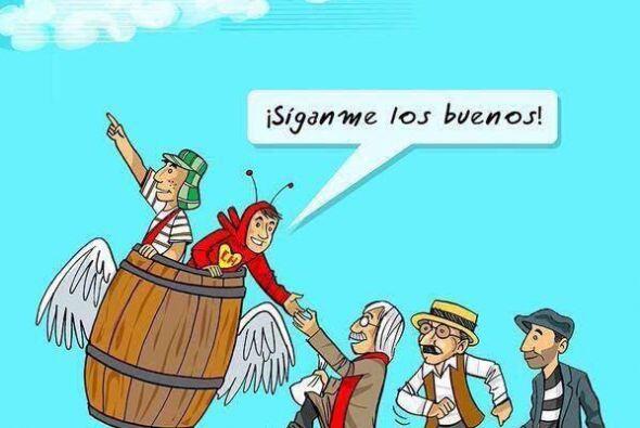 En algunos relacionan la idea de que Chespirito se encuentra en el cielo...