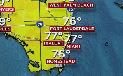 Viento, cielo nublado y lloviznas para este miércoles en Miami