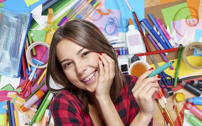 Maquillaje con gises y plumones. Las beauty bloggers no dejan de sorpren...