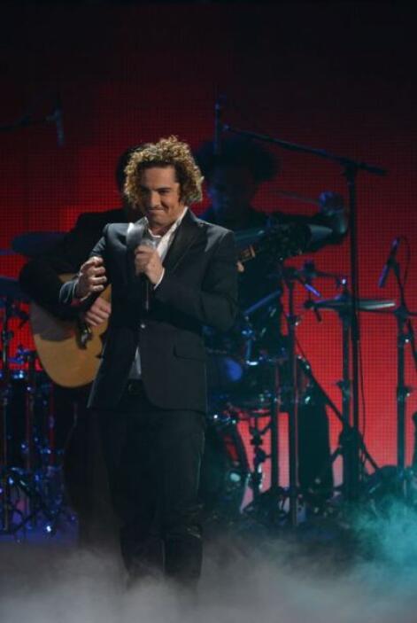 El cantante español David Bisbal se presentó en el escenario de Premio L...