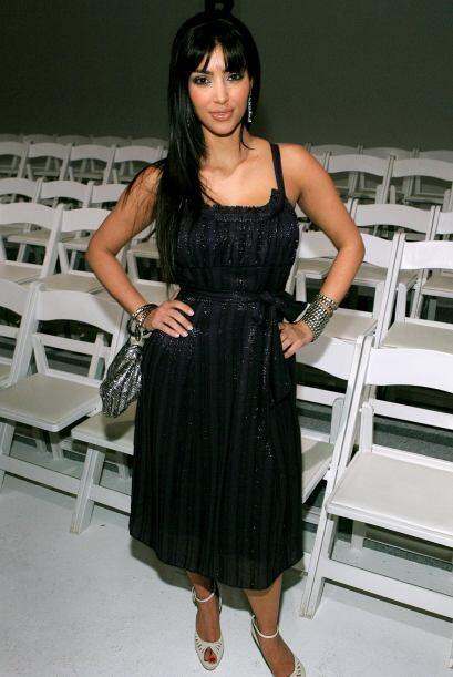 Kardashian comenzó a figurar en octubre de 2007, junto con su familia en...