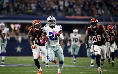 Dallas arrolló a Cincinnati con una dominante actuación de Ezekiel Elliot