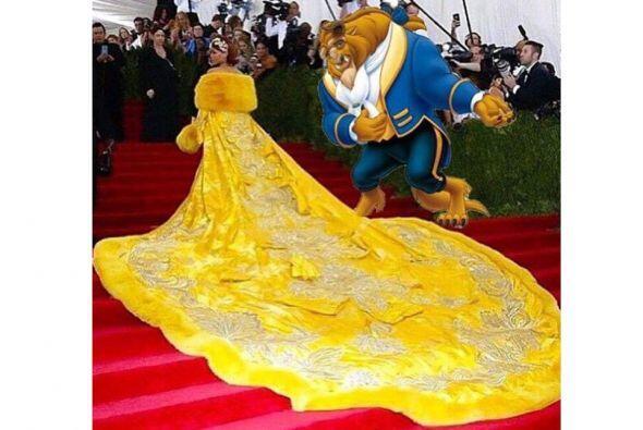 Y Rihanna apareció del brazo de ¿la Bestia?