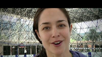 Dafne Molina venció su miedo a las alturas