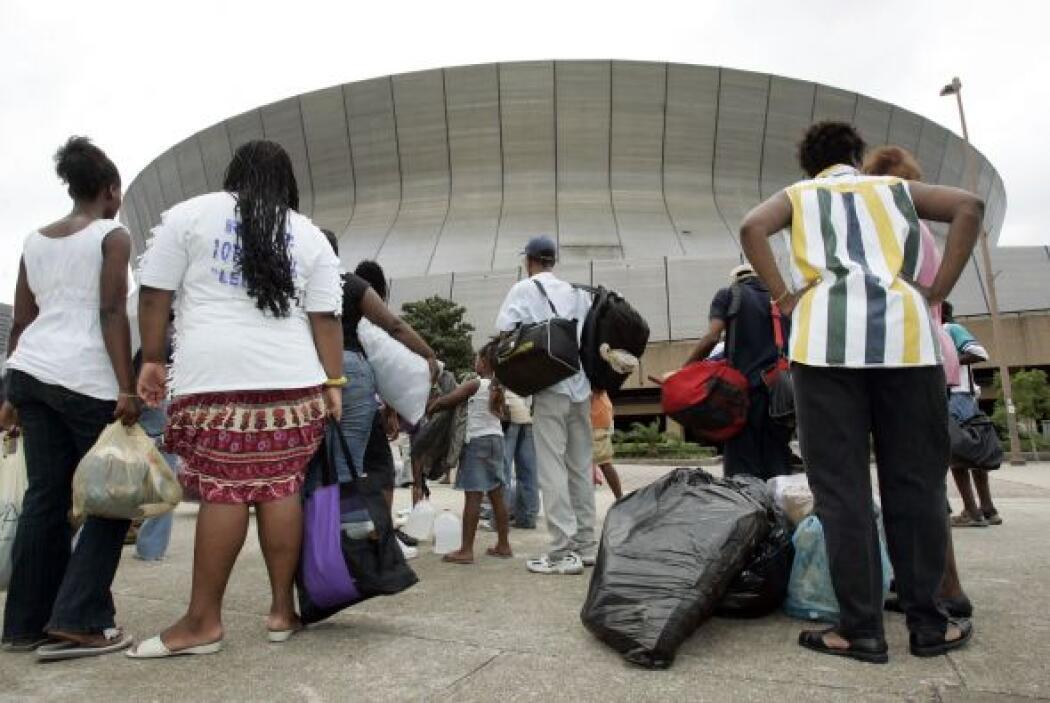 La mayoría de los habitantes de Nueva Orleans tuvieron que ser evacuados...