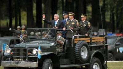 El presidente de Guatemala, Otto Pérez, creó dos fuerzas policiales para...