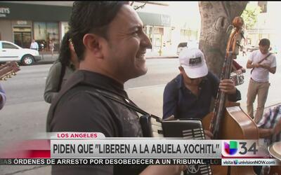 "Piden ""liberen a la abuela Xóchitl"" detenida por ICE"
