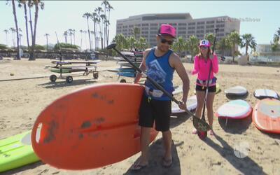 Conocimos más sobre el divertido deporte de 'paddleboarding'