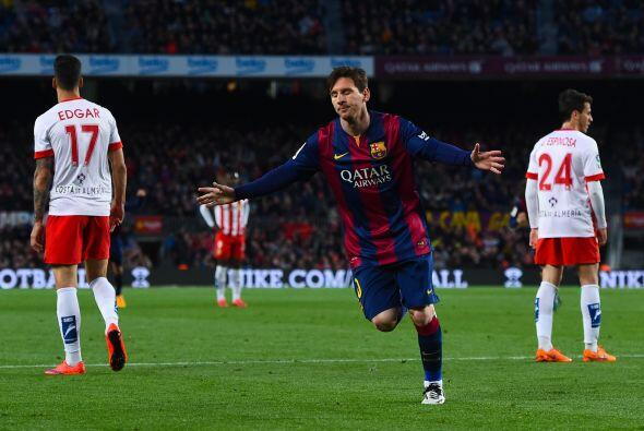 Entonces apareció la calidad de Lionel Messi quien abrió el marcador al...