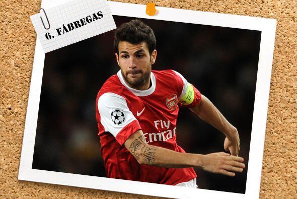 El español Cesc Fábregas reapareció con el Arsenal, después de dejar atr...
