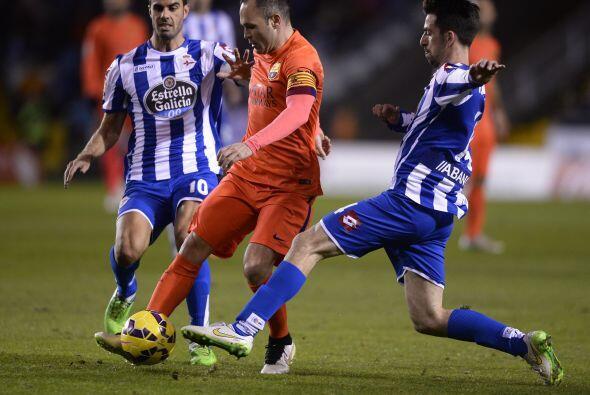 Otro que tuvo un buen partido fue Andrés Iniesta, el creativo culé volvi...