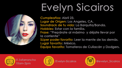 Evelyn Sicairos Bio