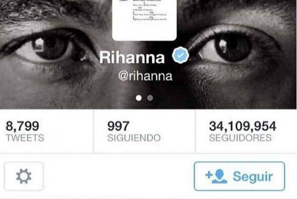 Rihanna pidió a sus 34.2 millones de seguidores en Twitter: &quot...