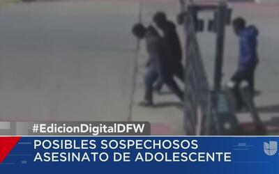 Un video muestra a los posibles sospechosos de asesinar a un adolescente...