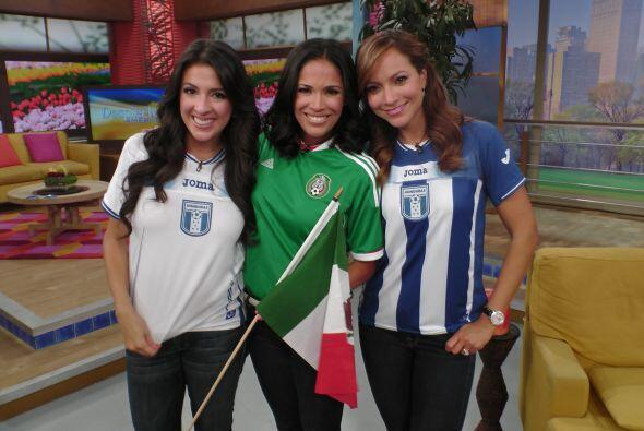 Maity, Karla y Satcha sí que llevan bien puesta la camiseta de sus equipos.