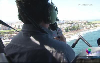 Luis González es piloto de helicóptero por un día