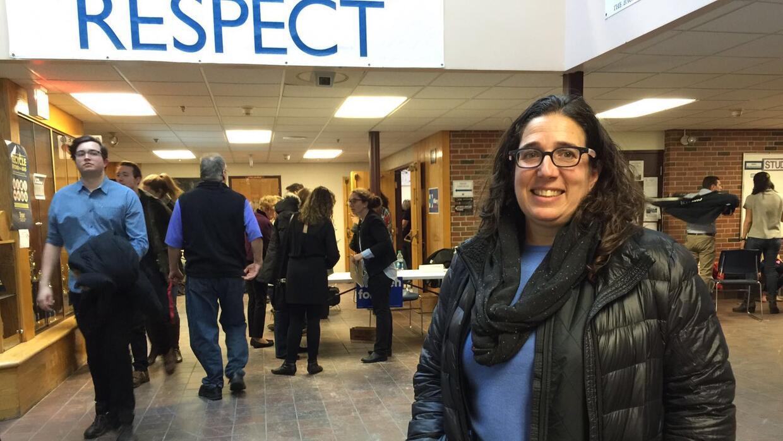 Elyse Winick, votante de Hillary Clinton en New Hampshire