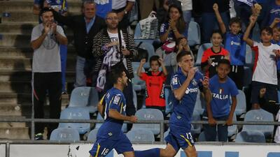 Stefan Scepovic anotó el único gol del partido ante el Málaga.