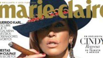 Cindy Crawford al estilo de María Félix para la revista Marie Claire en...