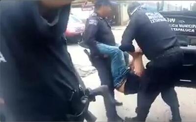 Impresionantes imágenes de un abuso policial en México
