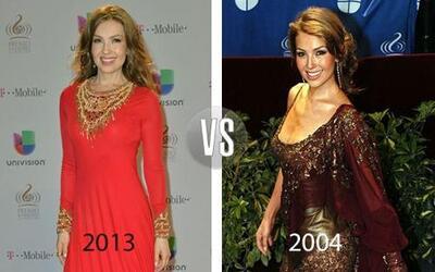 Thalía nos ha sorprendido con su transformación a lo largo de los años.