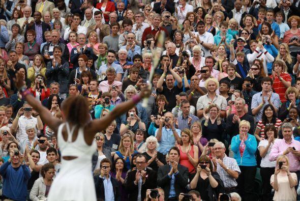 El público se entregó a la tenista de 30 años, que cuenta con 13 títulos...