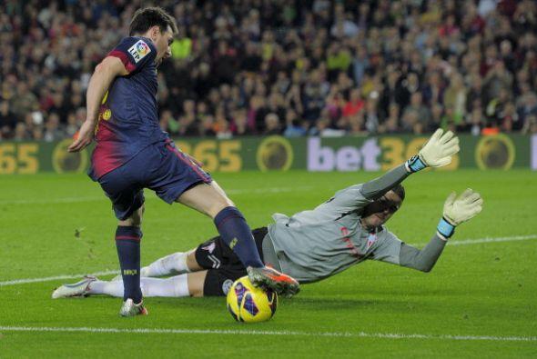 Messi generó buenas oportunidades y lució su fútbol vistoso, pero no enc...
