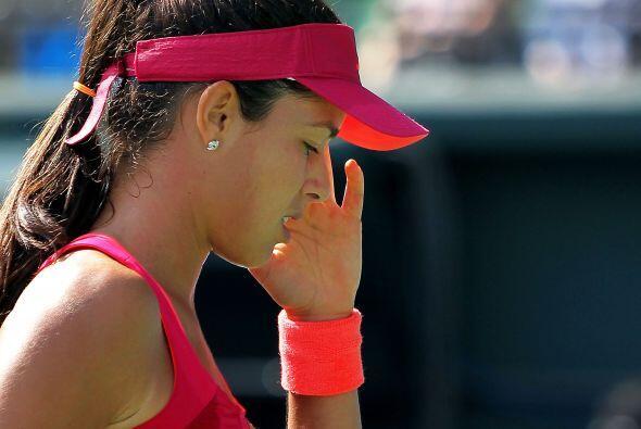 La guapa Ana Ivanovic fue eliminada del torneo a manos de Maria Kirilenko.