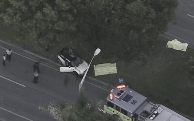 Se presenta accidente de tránsito en Homestead