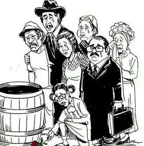 Otros dibujaron a La Chilindrina,  Doña Florinda, Don Ramón, Kiko, el pr...