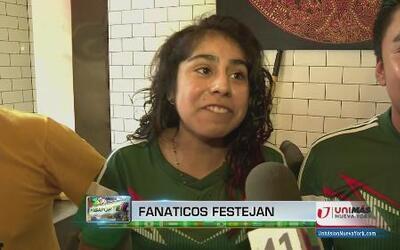 Méxicanos en NY celebran tremenda victoria