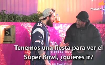 Este YouTuber le brindó una fiesta a personas sin hogar para ver el Supe...