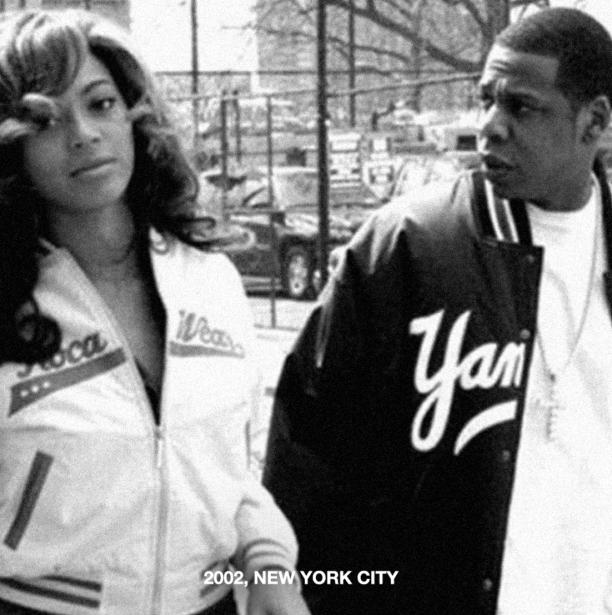 Beyoncé y Jay Z en Nueva York, en 2002.