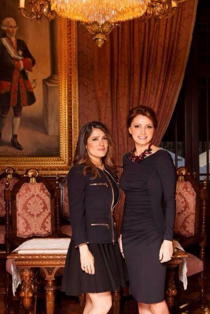 """""""Quiero darle un especial agradecimiento a Salma Hayek por acompa&n..."""