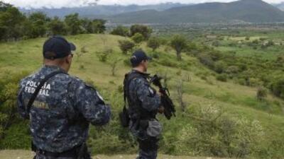 Fuerzas federales en la zona de Cocula.