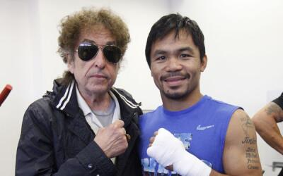 Bob Dylan y Manny Pacquiao