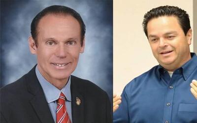 Jim Dear (a la izquierda) y Alberto Robles se enfrentan por la alcald&ia...