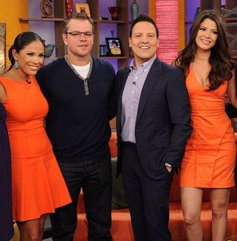 """""""¡Otra gran estrella de Hollywood! Hoy con Matt Damon en Despierta Améri..."""