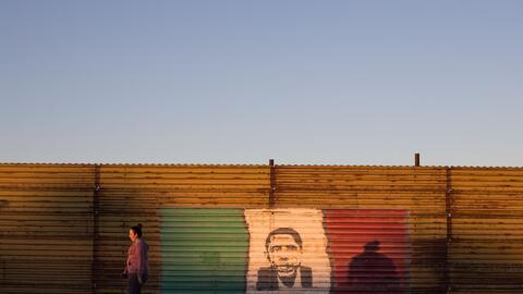 Un tramo de la frontera entre México y EEUU